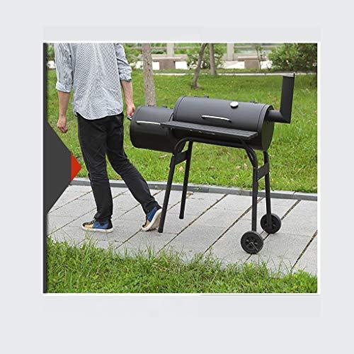 XAJGW Parrilla de carbón vegetal y ahumador de barbacoa, 30 ...