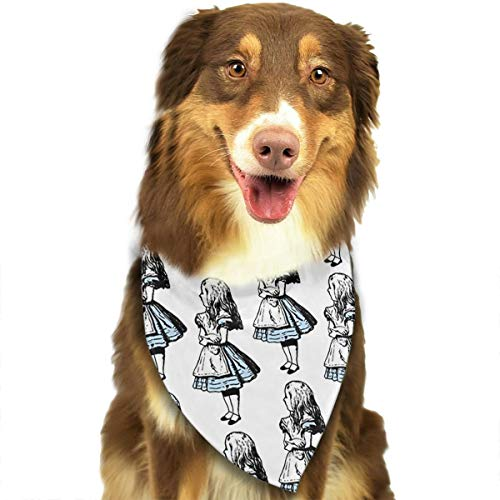 OURFASHION Small Alice in Wonderland Bandana Triangle Bibs Scarfs Accessories Pet Cats Puppies.Size is About 27.6x11.8 Inches -