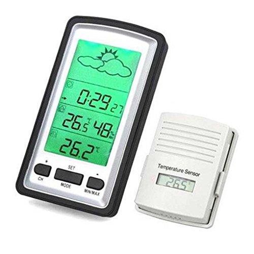 Bobury Thermomètre à température humide de température de l'intérieur et de l'extérieur à LED