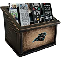 Fan Creations N0765-CAR Carolina Panthers Woodgrain Media Organizer, Multicolored