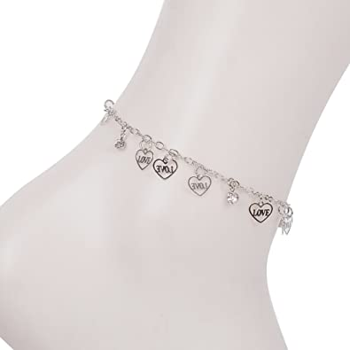 Yantu Women Girls Beads Chain Anklet Ankle Bracelet Barefoot Sandal Beach Foot Jewelry Gift