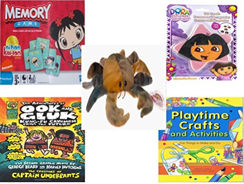 le - Ages 3-5 [5 Piece] - Ni Hao Kai-Lan Edition Memory Game - Nickelodeon Dora the Explorer Star 5 Non-Slip Tub Treads - Ty Beanie Baby - Claude the Crab Ty Dye - The Adventure (Dye Slip)