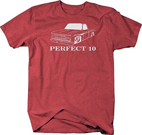 Perfect 10 Chevy C10 Fleetside 1973-87 Square body Pickup Truck Tshirt - XLarge