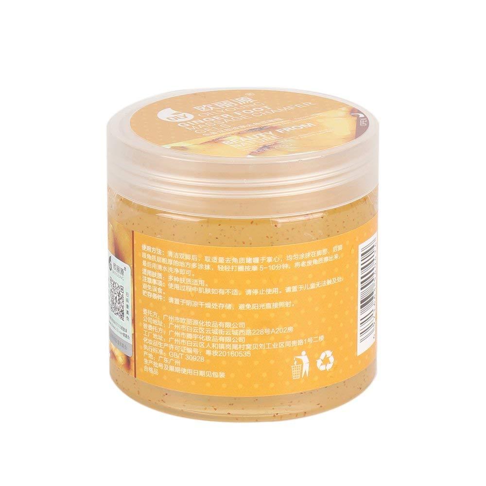 200G Jengibre Esencia Natural Cuidado de los pies Crema de masaje Exfoliante para pies Hidratante Hidratante Quite la crema para la piel muerta - Naranja Erduo