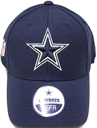 Dallas Cowboys Wool Basic Logo Velcro Adjustable Hat Navy