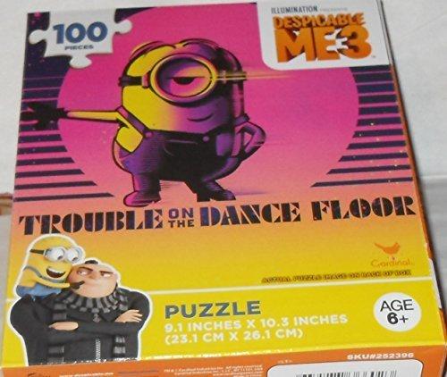 Illumiation Despicable Me 3 Puzzle   100 Pieces   Minion Stuart Trouble On The Dance Floor