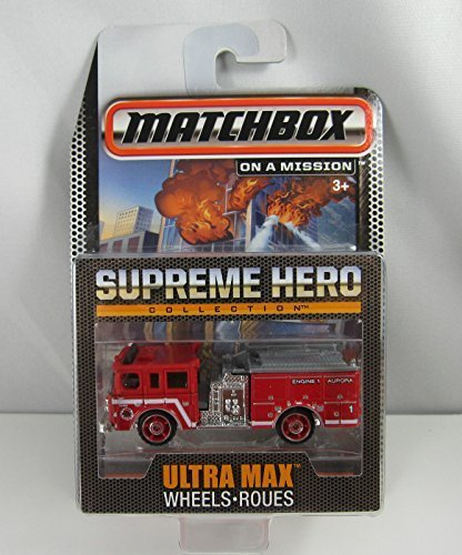 Pierce Collection - Matchbox Limited Edition Supreme Heroes Collection - Pierce Dash Fire Engine (Red) by Mattel