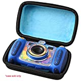 Aproca Hard Carrying Travel Case for VTech Kidizoom Camera Pix / VTech Kidizoom Duo by (black-blue inside)