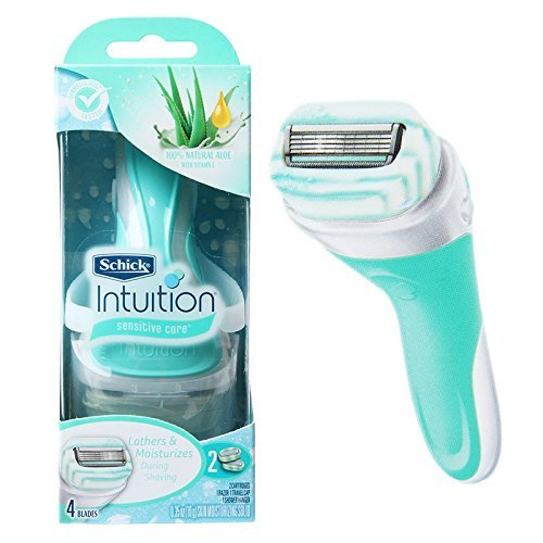 Schick Intuition Sensitive Care Natural Aloe With Vitamn + 1 Extra Cartridge