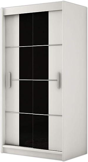 Kryspol Renato 4 120 - Armario con Puertas correderas (Cristal Lacado, Barra y balda): Amazon.es: Juguetes y juegos