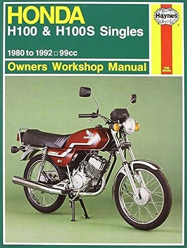 honda h100 h100s singles 80 92 motorcycle manuals haynes rh amazon com Honda CR 250 Wire Diagram Honda Motorcycle Wiring Color Codes