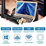 USB WiFi Adapter for PC 1200Mbps Dual Band USB 3.0