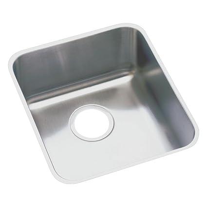 elkay lustertone eluh1316 single bowl undermount stainless steel kitchen sink - Undermount Stainless Steel Kitchen Sink
