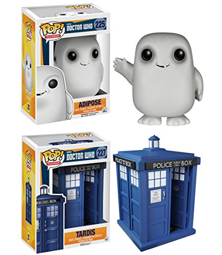 "Funko Doctor Who POP! TV 6"" Tardis & Adipose Vinyl Collectors Set"