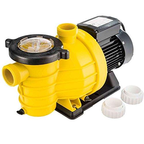 pompe piscine jaune