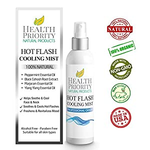 Natural & Organic Menopause & Hot Flashes Cooling Mist. Get Relief From Flashes & Support For Night Sweats. Kit Safe to use with Supplements & Vitamins. One a Day for Cooling when flashes start.