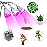 JCBritw LED Plant Grow Lamps Triple Head 15W Desk Clip Growing Lights for Indoor Plants Flower Seedling Veg For Sale