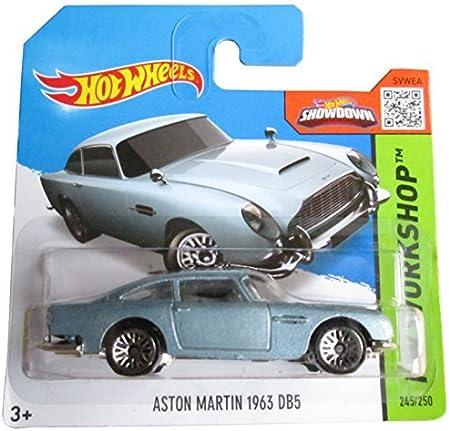 Hot Wheels Hw Workshop 245 250 Aston Martin 1963 Db5 Light Blue On Short Card By Hot Wheels Amazon De Spielzeug