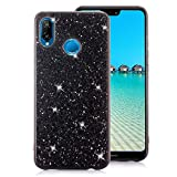 Huawei P20 Lite Case [with Free Screen Protector],Funyee Luxury Shiny Sparkle Diamond Ultra-Thin Silicone Gel TPU Anti Scratch Durable Rubber Smart Case for Huawei P20 Lite,Black
