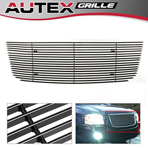 ntal Main Upper Billet Grille Insert Compatible With 2001 2002 2003 2004 2005 2006 2007 2008 2009 GMC Envoy Grill Polished Aluminum ()