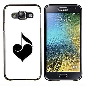 TECHCASE---Cubierta de la caja de protección para la piel dura ** Samsung Galaxy E5 E500 ** --Amo la música