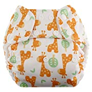 Blueberry One Size Simplex All In One Cloth Diapers, Made in USA (Giraffes)