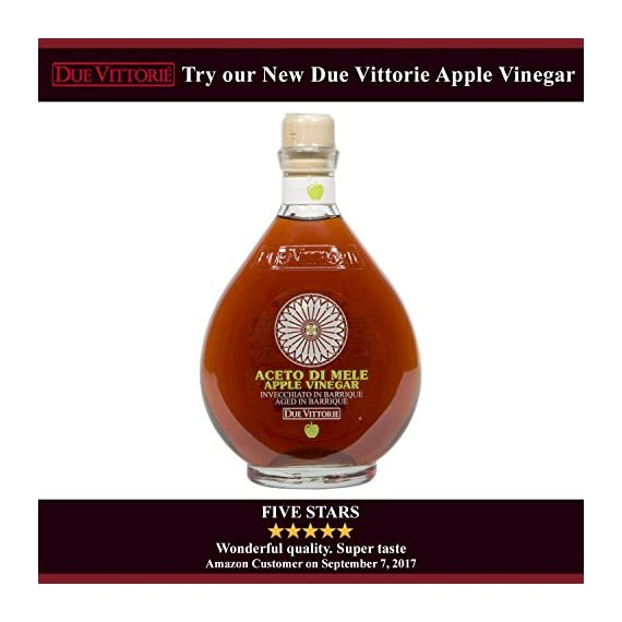 Due Vittorie Oro Gold Balsamic Vinegar of Modena. Highest score from The Consortium of Modena With Cork Pourer - 250ml 16 🍷 The number one bestselling Balsamic Vinegar in Italy. 🍷 Tastes great on meat, cheese, fish, salads, strawberries, or even vanilla ice cream. 🍷 Comes with a free Cork Pourer, Makes A Perfect gift / cooking ingredient for home chefs.