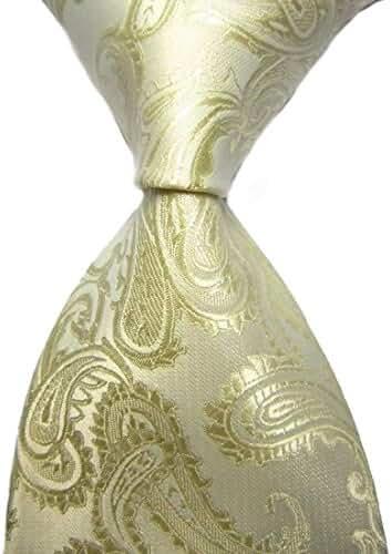 New Green Paisley Jacquard Woven Men's Tie Necktie
