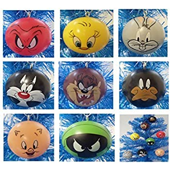 looney tunes 8 piece holiday christmas ornament set featuring 2 ornaments of bugs bunny - Blue Christmas Porky Pig Video