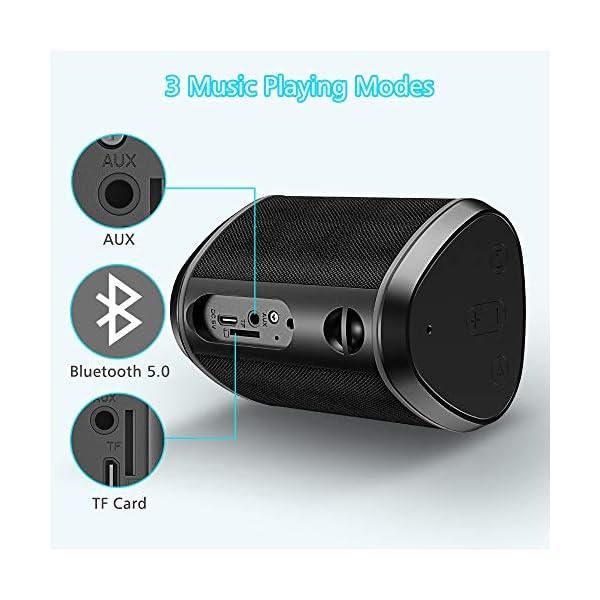 Cocoda Enceinte Bluetooth Portable, Mini Haut Parleur Sans Fil avec Sonore Stéréo, Basses Puissantes, Technologie TWS, Portée Bluetooth 18M, Support AUX/Carte TF, Étanche IPX6 Enceintes pour Extérieur 7