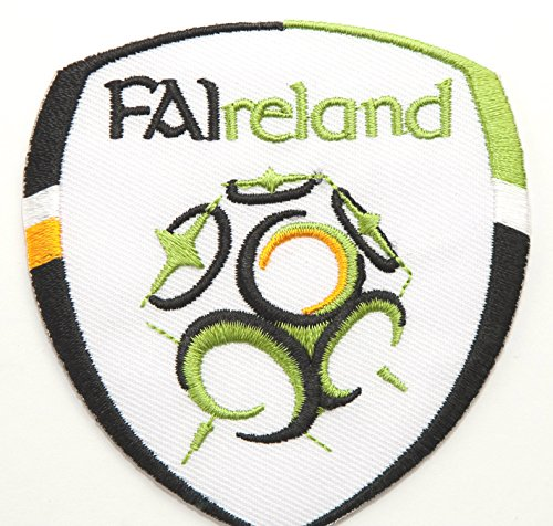 """Republic of Ireland Patch Embroidered Iron/Sew on Badge - 3"""" FAI Soccer Crest World Cup Football Souvenir"""
