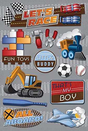 Karen Foster Design Acid and Lignin Free Scrapbooking Sticker Sheet, That's My Boy (Tractor Scrapbook Paper)