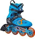 K2 Skate Vo2 90 Pro Inline Skates, Size 11, Blue/Orange