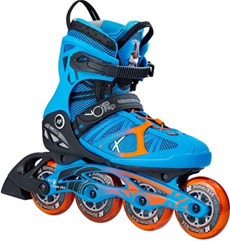 日付付き結紮用量[ケーツー] メンズ インラインスケート VO2 90 PRO ブイオーツ― 90 プロ ブルー/オレンジ I170201701