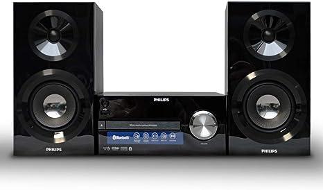 Philips BTM2585 - Microcadena Bluetooth, CD, USB, Radio, con Sonido Potente y Alarma