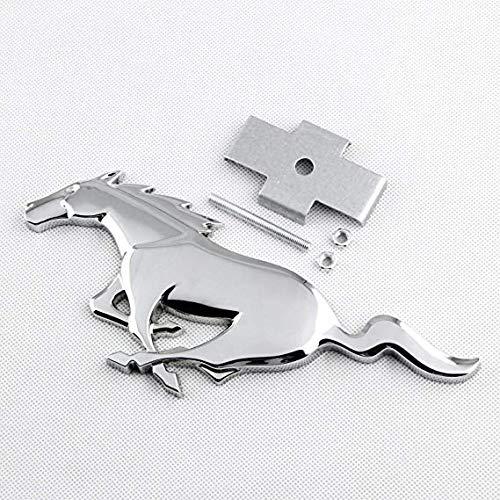 Black Running Horse Metal Grille Emblem Badge Mount For Ford Mustang 2013-2019
