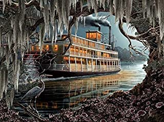 product image for SUNSOUT INC Night on The River 1000 pc Jigsaw Puzzle