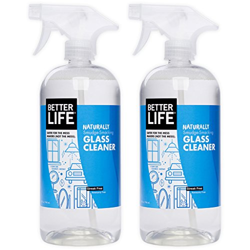 (Better Life Natural Streak Free Glass Cleaner, 32 Ounces (Pack of 2), 24425)
