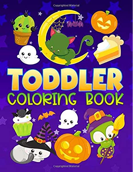 - Toddler Coloring Book: 30 Cute Halloween Illustrations To Color For Children  Ages 1-3: Papeterie Bleu Kids: 9781700814012: Amazon.com: Books