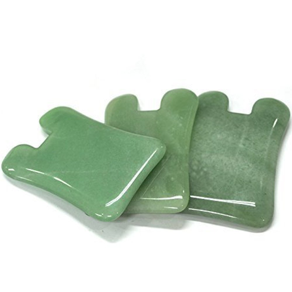 Jade Gua Sha Scraping Massage Tool | Heavy Premium Jade Stone | Hand Made Professional Guasha Board for ASTYM,Graston,Myofascial Release | Reduce Muscles Soreness,Relax Joints (Rabbit)