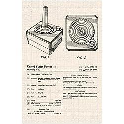 Atari 2600 Joystick Video Gaming Official Patent Diagram Poster 12x18