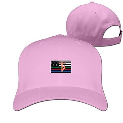 American Flag of Lineman Unisex Sandwich Snapback Cap Solid Color Hats