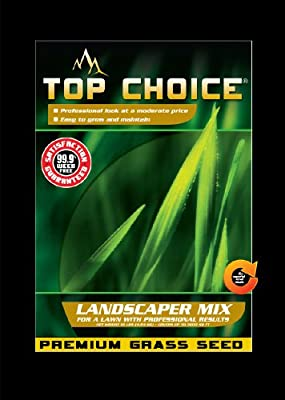 Top Choice 17625 3-Way Perennial Ryegrass Grass Seed Mixture, 10-Pound