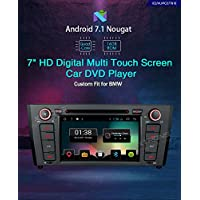 XTRONS 7 Android 7.1 Quad Core Capacitive Touch Screen Car Stereo Radio DVD Player Screen Mirroring Function OBD2 DVR for BMW E81 E82 E88
