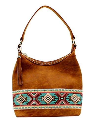 Blazin Bag Women's Hobo Aztec Roxx Tan Embellishment XXTw0q