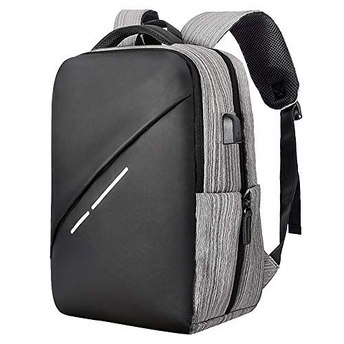 (Travel Laptop Backpack, Anti Theft Laptops Backpack with USB Charging Port, Lightweight Waterproof Large Bookbag Fits up to 15.6-inch Laptop Notebook Computer Bag for Women Men Work College Student)