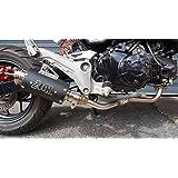ZoOM Exhaust Honda MSX 125 GROM 125SF 2013-2018 Full System Low Mount BLACK 2SLZ