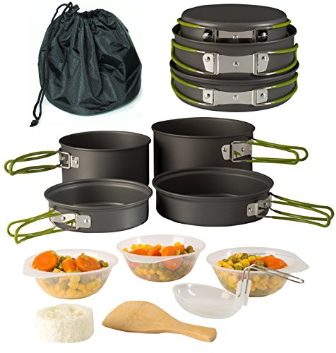 Camping-Cookware-Pot-Pan-Set-Mess-Kit-Backpacking-Outdoor-Cooking-Bowl-Made-Of-Lightweight-Aluminum-Material-Small-Compact-Heat-Resistant-Foldable-Handles-Hiking-Gear-fishing-Survival-Equipment