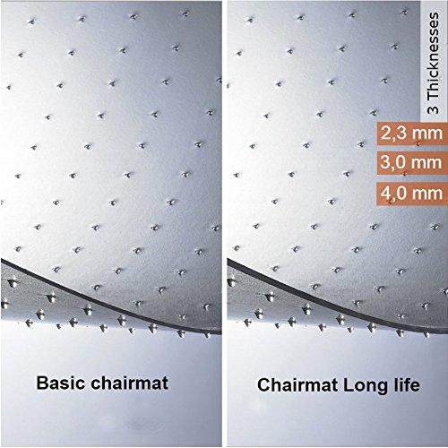 -[ casa pura PVC Chair Mat for Carpet Floor | Floor Protector for Medium Pile Carpets | 100x120cm |