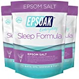 Epsoak Sleep Formula Epsom Salt 6 lbs. - Lavender Bath Soak, Relax & Sleep Well (Qty 3 x 2 lbs. Bags)